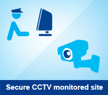 Secure CCTV monitored site