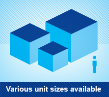 Various unit sizes available